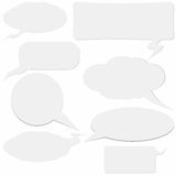 Dialogue boxes Royalty Free Stock Image