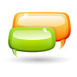 Dialogue bubbles Stock Images