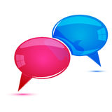 Dialogue bubbles Royalty Free Stock Photos
