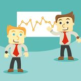 Dialogue and business graph Royalty Free Stock Images