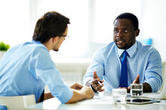 Dialogue of businessmen Royalty Free Stock Photography