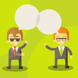 Dialogue businessmen Stock Photography