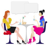 Dialogue in cafe royalty free illustration