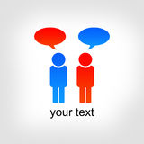 Dialogue, contact. The Dialogue or contact two people Stock Image
