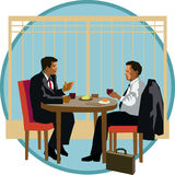 Dialogue d'affaires illustration de vecteur