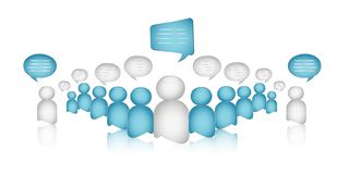 Dialogue between different and diverse people. Business communication. Crowd talking. Globalization. Interview. Isolated 3d Illust vector illustration