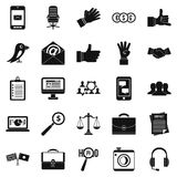 Dialogue icons set, simple style. Dialogue icons set. Simple set of 25 dialogue vector icons for web isolated on white background Stock Photo