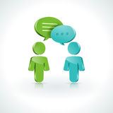 Dialogue Speech Bubbles Royalty Free Stock Images