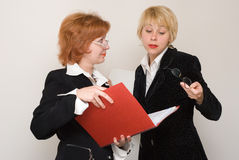 Dialogue of two business women. Stock Photography