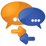 Dialoog royalty-vrije illustratie