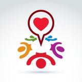 Dialoog over liefde en gezondheid - internationaal forum over medisch en Stock Foto's