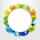 Dialoogballons met Kleurenballen Stock Foto