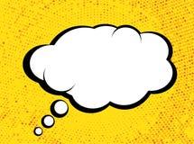 Dialoogbel in Pop Art Comics Style met Halftone Textuur stock illustratie