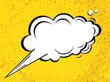 Dialoogbel in Pop Art Comics Style met Halftone Textuur Stock Foto's