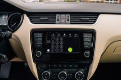 Dialpad in Armaturenbrett Apples CarPlay Stockfotografie