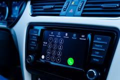Dialpad in Armaturenbrett Apples CarPlay Stockbild