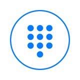 Dialpad, numeric keypad circular line icon. Round colorful sign. Flat style vector symbol. Stock Photos