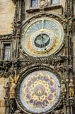 Dials of Astronomical Clock Prague. Dials of ancient  Astronomical Clock Prague Stock Photography