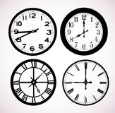 Dials of street hours Stock Images