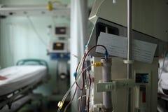 Dialysis machine in the ICU ward Stock Photo