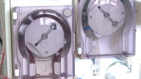 Dialysis medical device stock footage