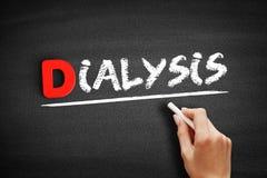 Dialysis text on blackboard