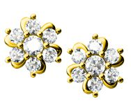 diamantörhängen Arkivbilder