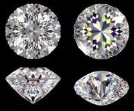 Diamant 16 geïsoleerdea ster Stock Afbeelding