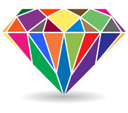 Diamant royaltyfri illustrationer
