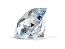 Diamant auf Weiß. Stockfoto