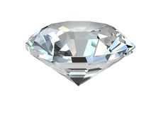 Diamant auf weißem Hintergrund Stockfotografie