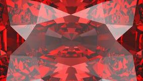 Diamant-Beschaffenheitszoom der Ernte der Illustration 3D roter karminroter Lizenzfreie Stockfotografie