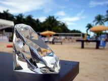 Diamant am besetzten Strand Stockfotografie