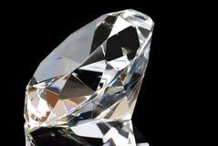 Diamant blanc sur le fond noir Images libres de droits