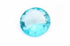 Diamant bleu d'isolement Images stock