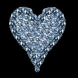 Diamant bleu de coeur illustration libre de droits