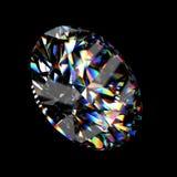 diamant brillant rond de la coupure 3d Photographie stock libre de droits