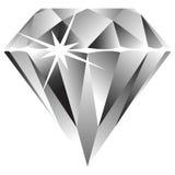 Diamant contre le blanc Images libres de droits