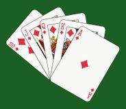 Diamant d'éclat royal sur le vert illustration de vecteur