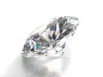 Diamant d'isolement sur le fond blanc Photo libre de droits