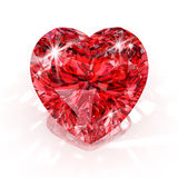 Diamant de forme de coeur illustration stock