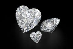 Diamant de forme de coeur Photographie stock libre de droits