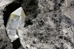 Diamant de Herkimer photo libre de droits
