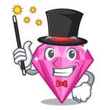 Diamant de rose de magicien dans une boîte de bande dessinée illustration libre de droits