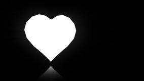 Diamant de rotation de coeur banque de vidéos