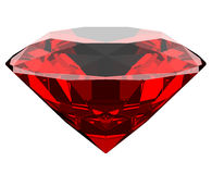 Diamant des Granats 3d lokalisiert Stockbild