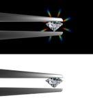Diamant die door pincet wordt gehouden royalty-vrije illustratie