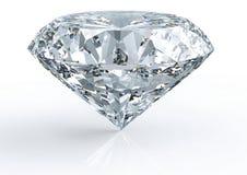 Diamant die op wit wordt geïsoleerd stock fotografie