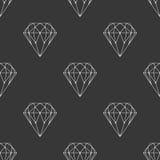 Diamant donker naadloos patroon vector illustratie