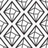 Diamant eller crystal sömlös modell royaltyfri illustrationer